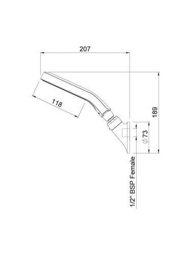 Douche de tête technologie AURAJET ™-3