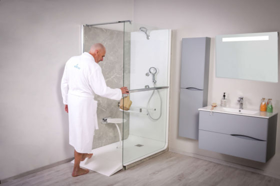 Douche italienne accessible Elmer